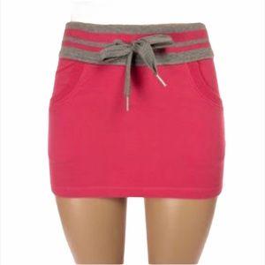 Lululemon Pink & Grey Cotton Mini Skirt